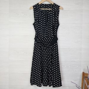 NEW City Chic Black & White Polka Dot Midi Dress